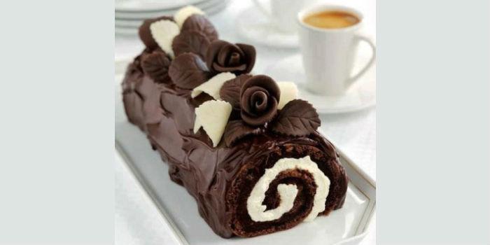 sjokoladerullekake
